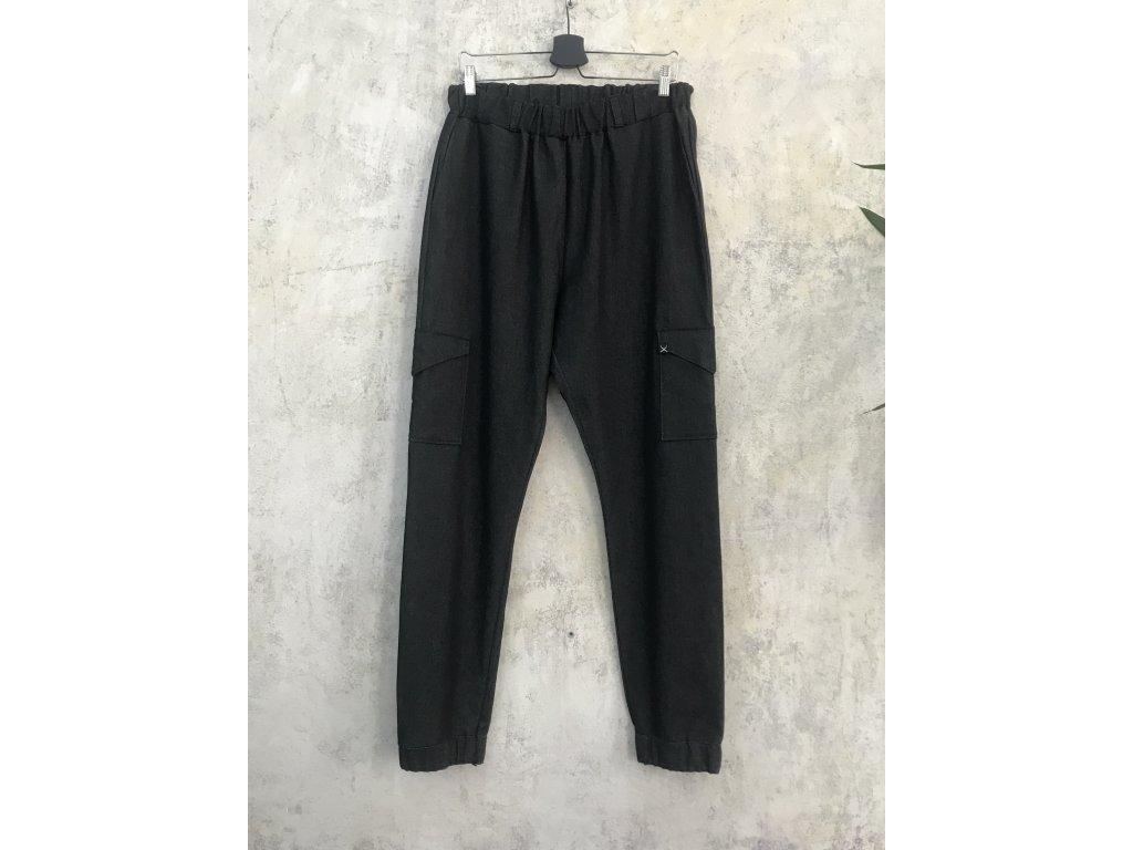 NTRXZ MVMNT Pánské kalhoty černé jeansy s kapsami