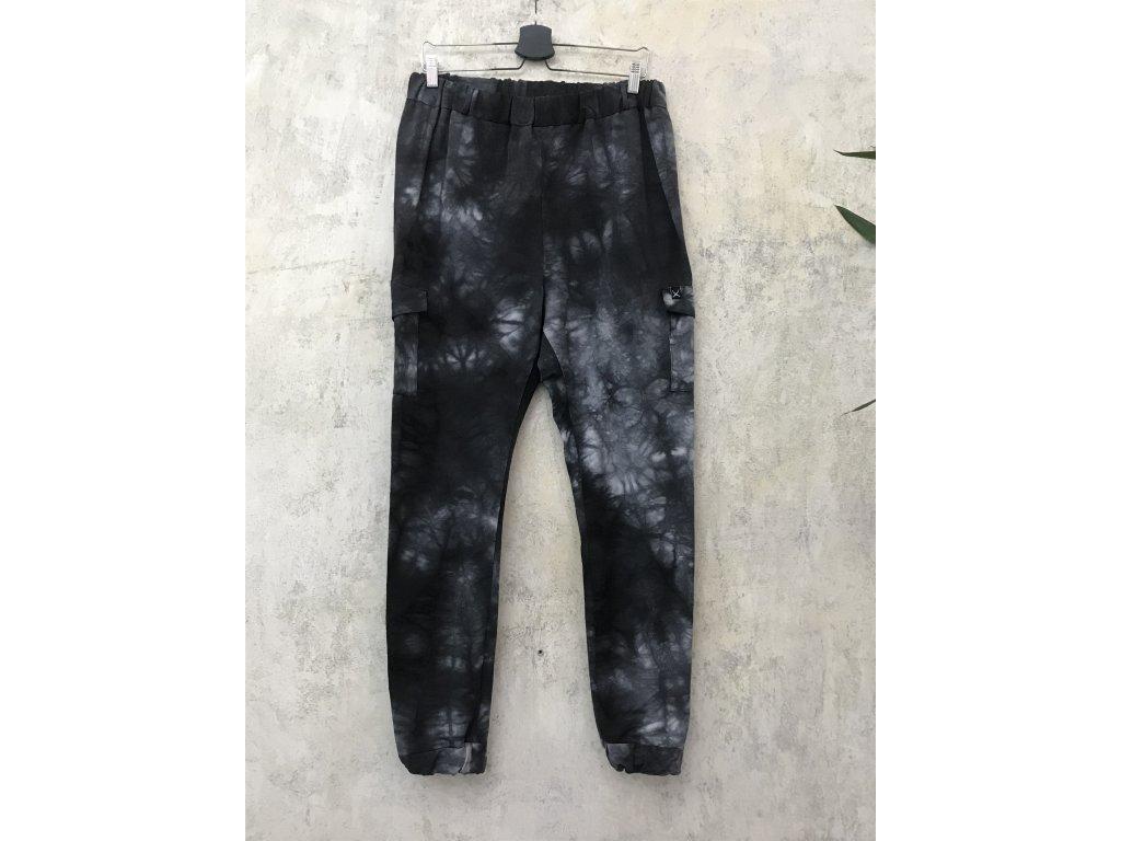 NTRXZ MVMNT Kalhoty pásnké žíhané - batikované