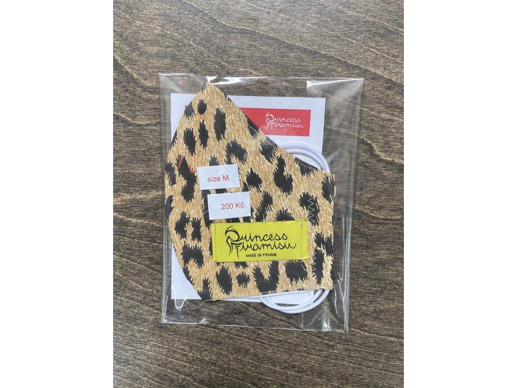 PRINCESS TIRAMISU unisex rouška / maska - hnědý leopard