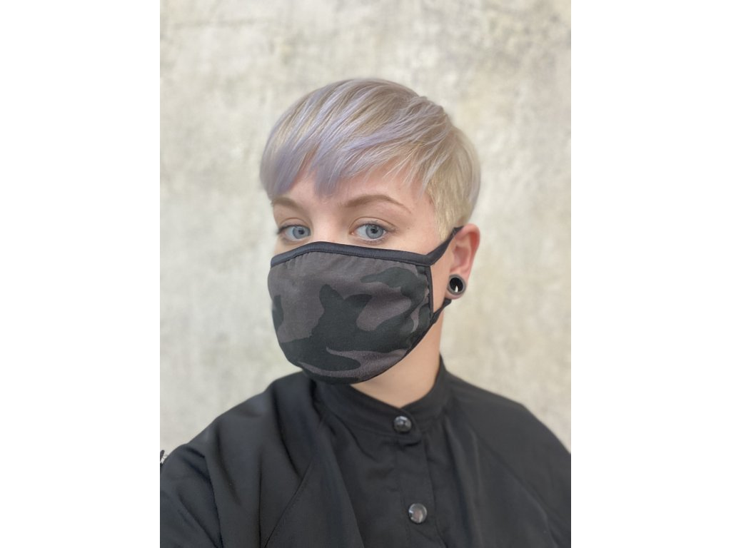 NTRXZ unisex maska na obličej / rouška bavlněná maskáčová II.