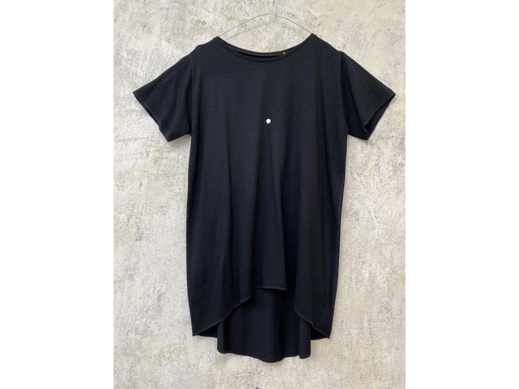 ARTGI tričko s krátkým rukávem - černý bambus / bílá tečka