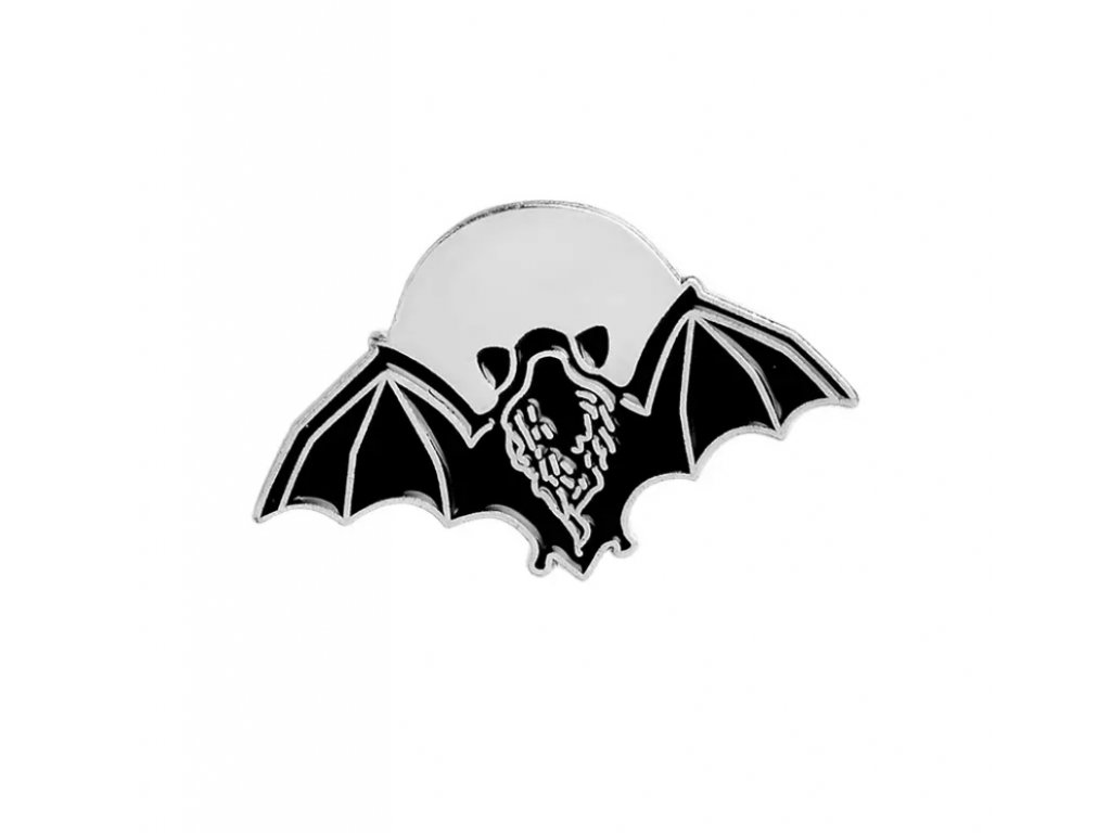 Pin / Brož / Odznáček - netopýr s měsícem