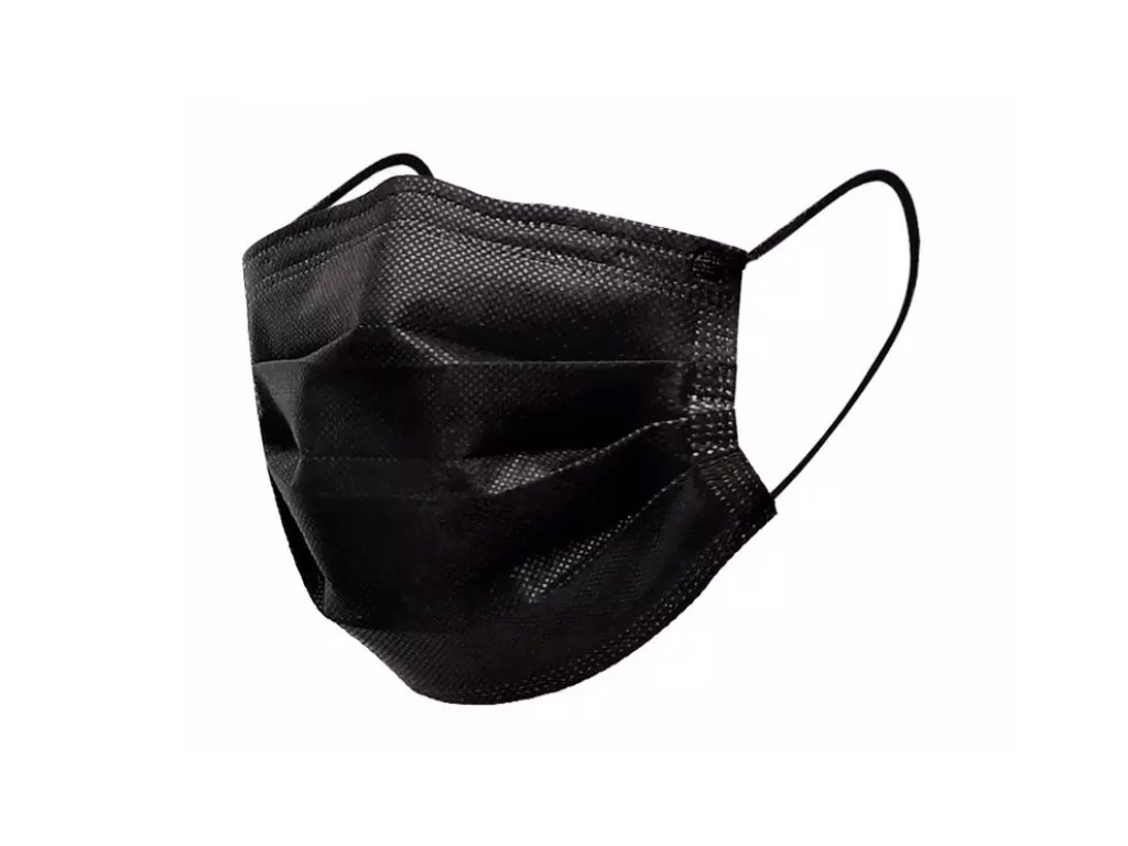 Jednorázová černá rouška / maska / ústenka - black
