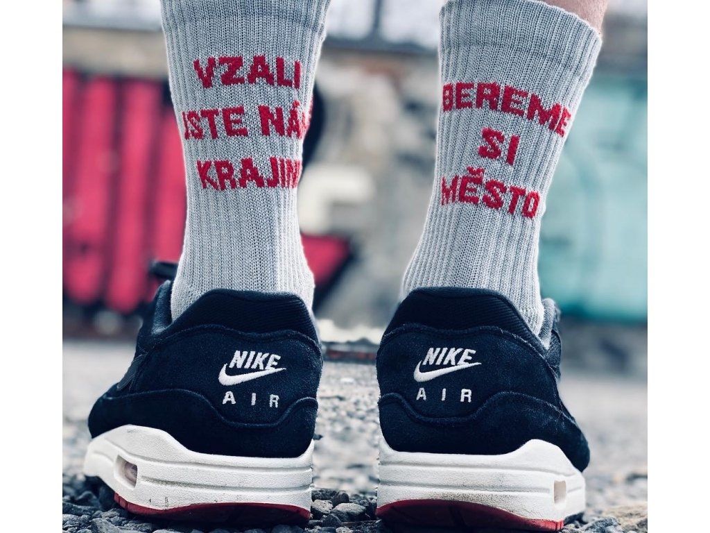 City Folklore Message Socks Šedé