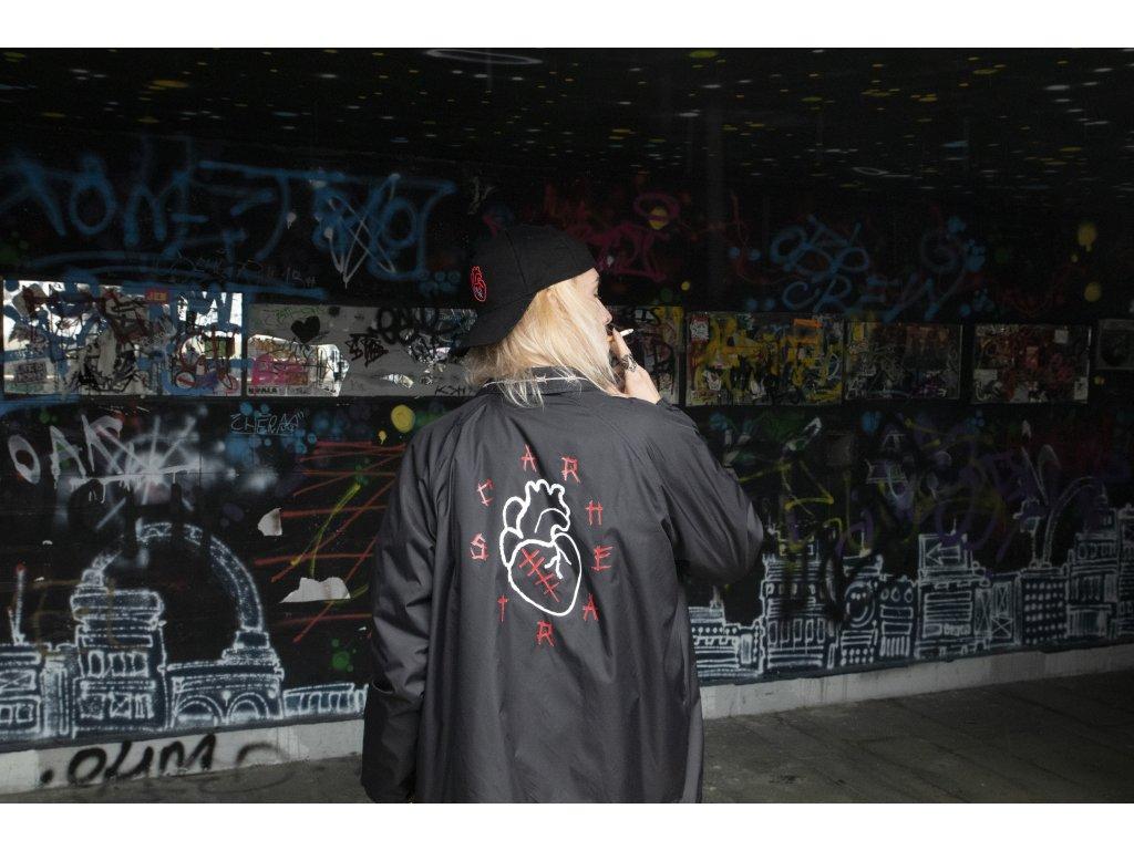 SCARHEART pánská větrovka / černá bunda Compass coach jacket