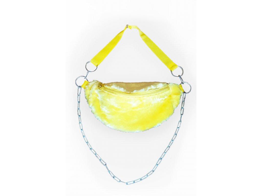 FLUFFS yellow fanny pack
