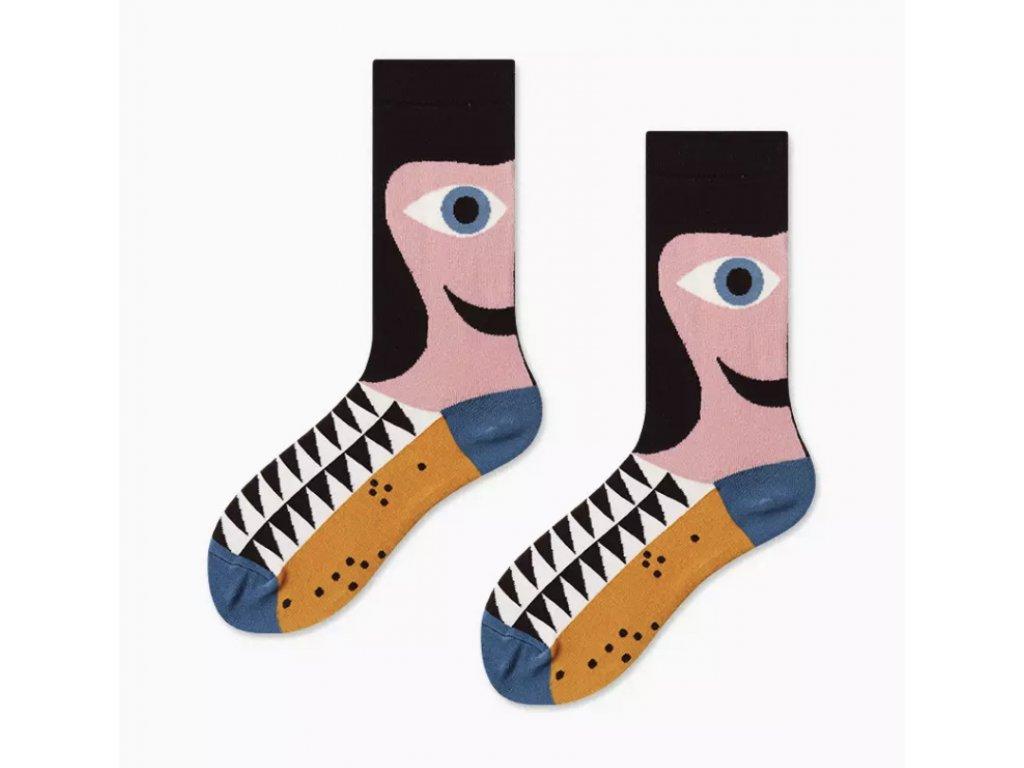 COUPLES Ponožky FUNNY FACE