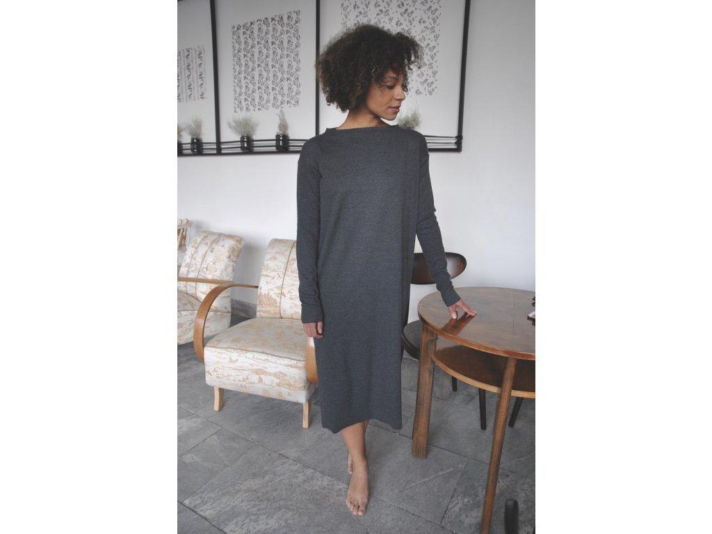 2792 saty rib long sleeve dark grey