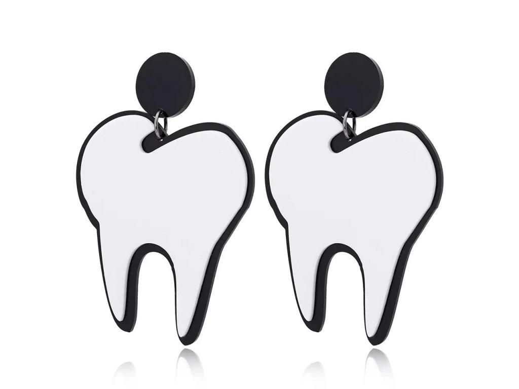 Náušnice WHITE TOOTH - bílý zub