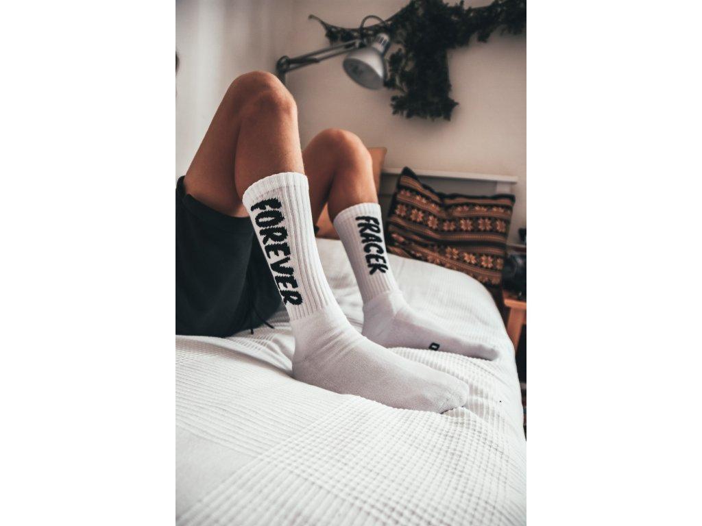 City Folklore bílé ponožky Forever Fracek Squad Socks - vysoké