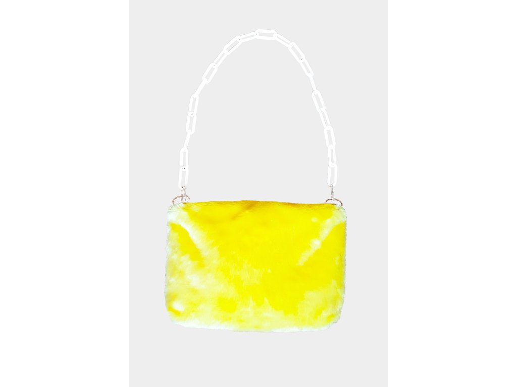 FLUFFS yellow purse