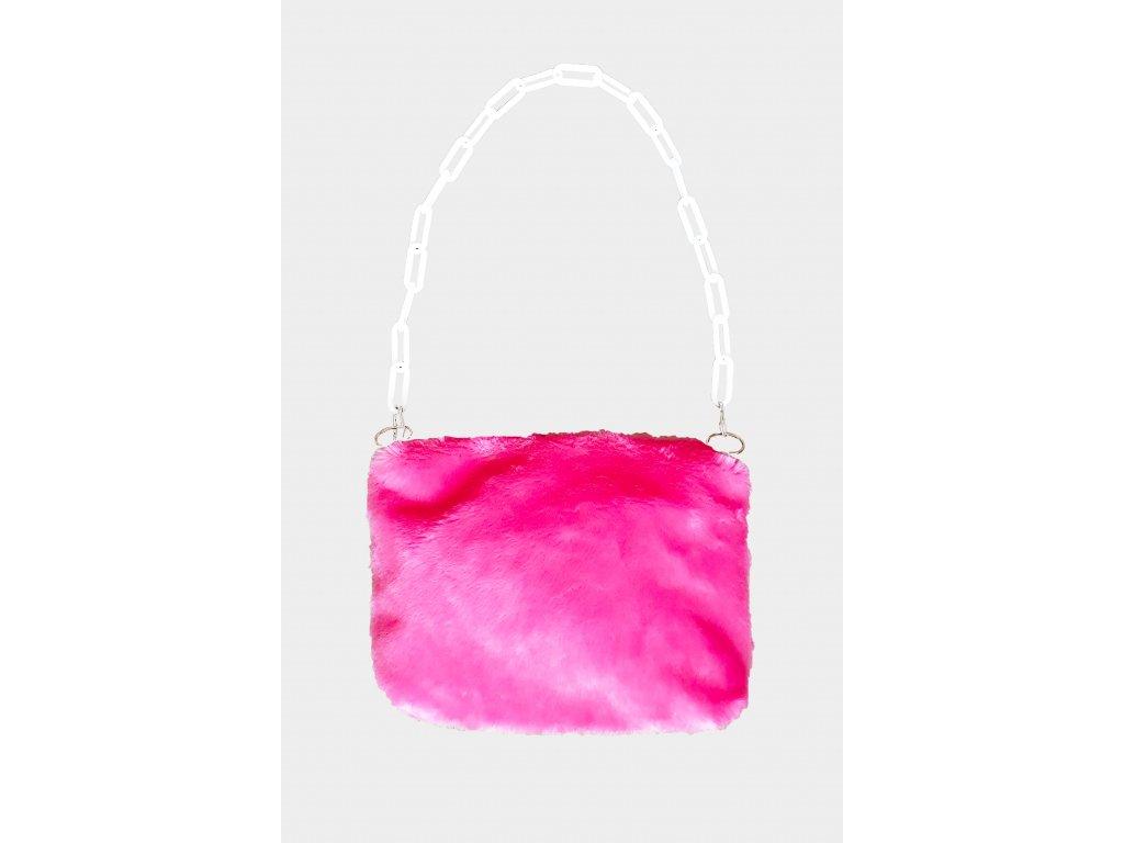 FLUFFS pink purse