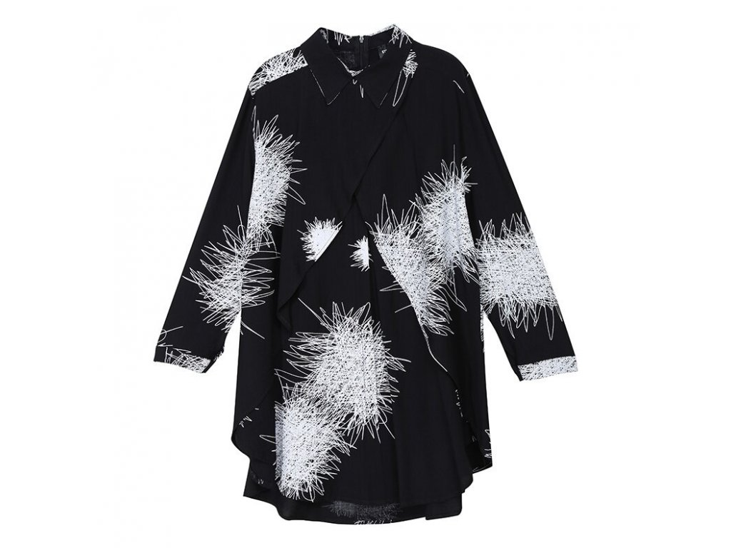 Košile s dlouhým rukávem - černá / CHAOS