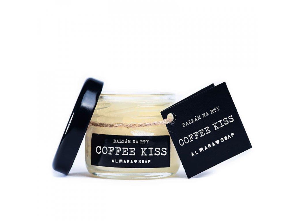 ALMARA SOAP veganský přírodní balzám na rty COFFEE KISS