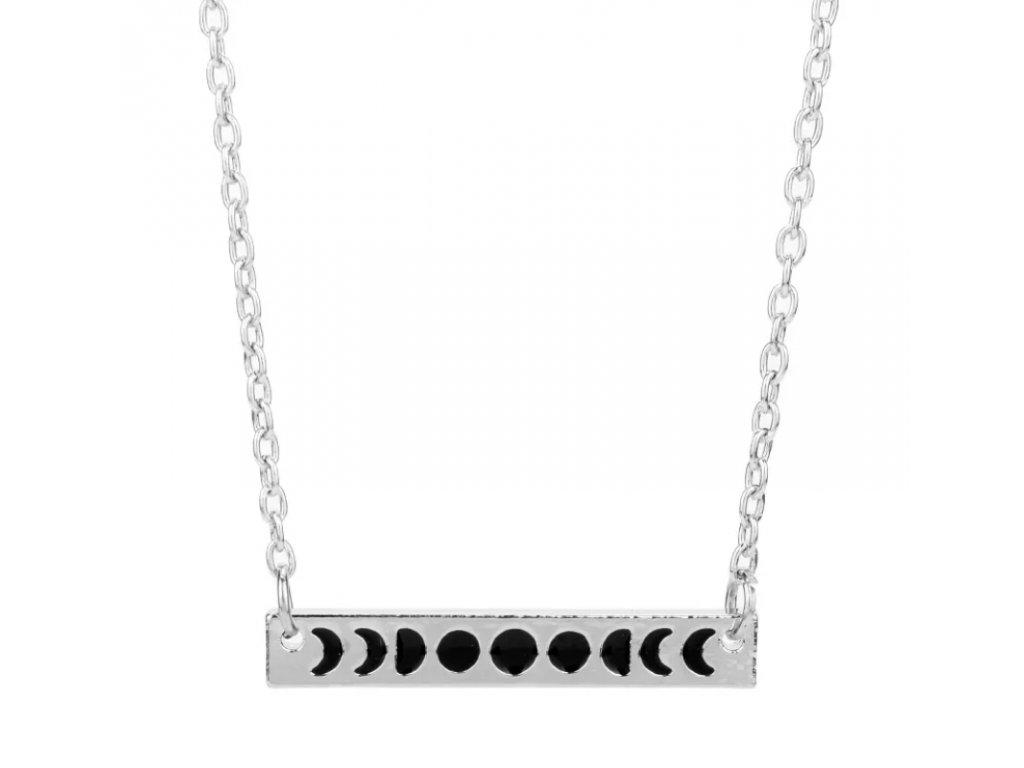 DARK náhrdelník - fáze měsíce / SILVER MOON
