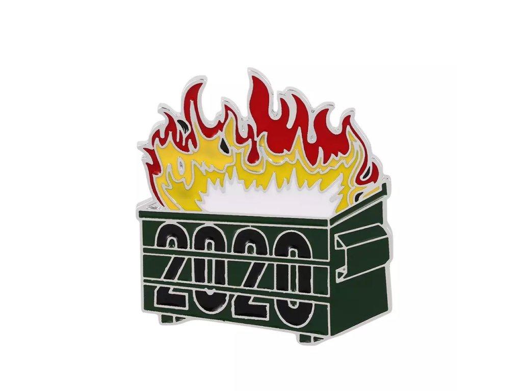 Pin / Brož Odznáček - kontejner / 2020 FIRE