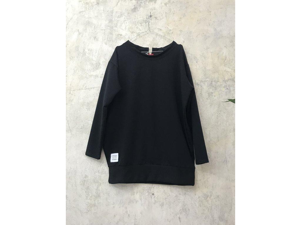 BIOGA černá dámská mikina COSIDO bavlna s dlouhým rukávem