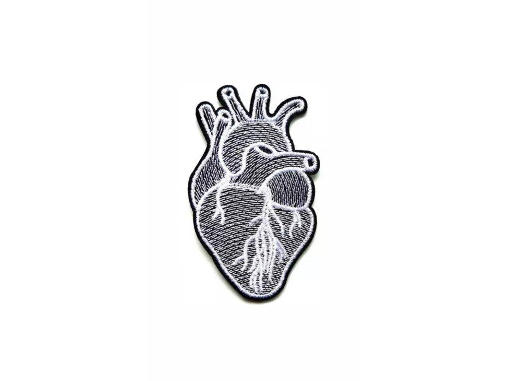 VYŠÍVANÁ NÁŠIVKA - nažehlovací obrázek / HEART