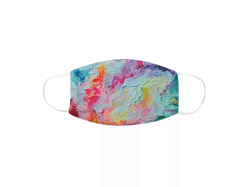 DARK barevná rouška s gumičkami - MIXED COLOUR IV.