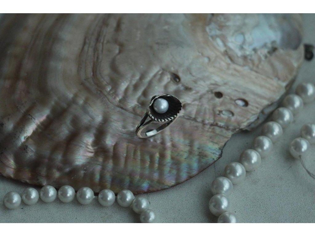 HYPSOLINE JEWELRY prsten mušle s perlou Zrození Venuše