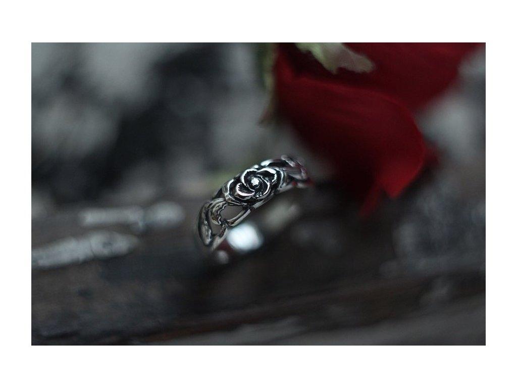 HYPSOLINE JEWELRY - STŘÍBRNÝ PRSTEN immortal rose