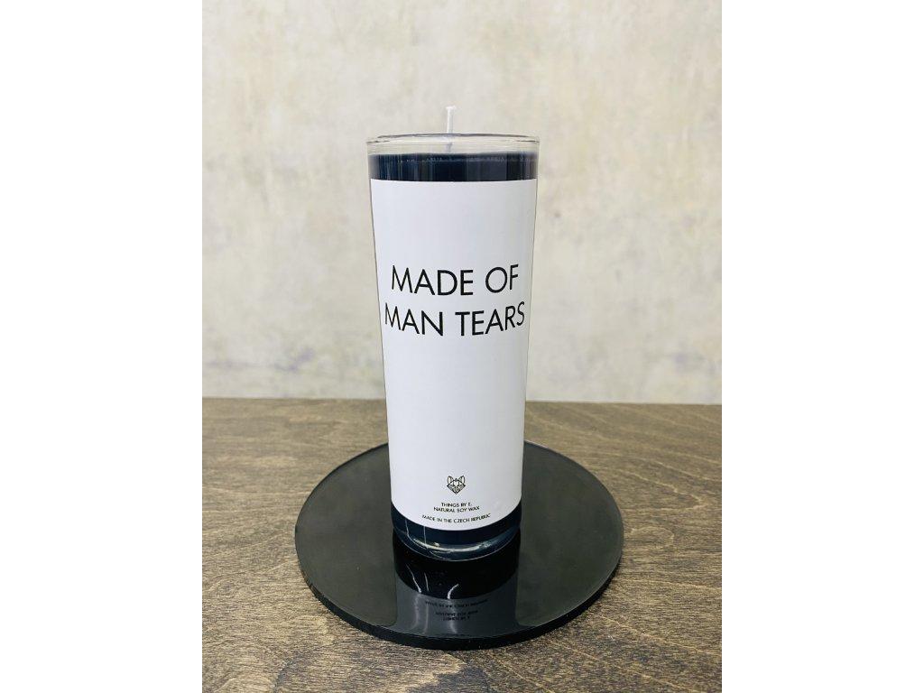Things by E. - IRONIC CANDLES - střední svíčka - MADE OF MAN TEARS / lesní ovoce