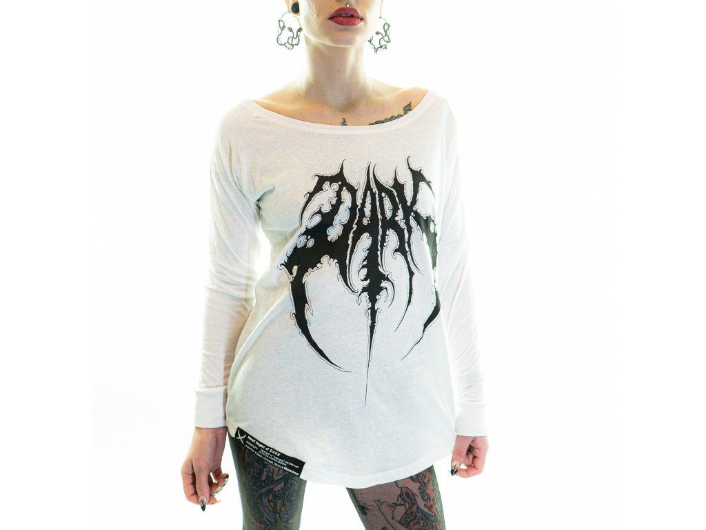 DARK / BLADEXLINES / NTRXZ Colab Collection - dámské bílé triko s dlouhým rukávem