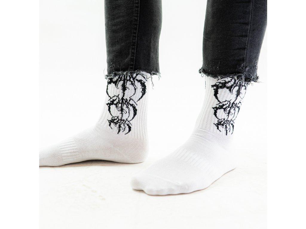 DARK / BLADEXLINES / NTRXZ Colab Collection - ponožky bílé