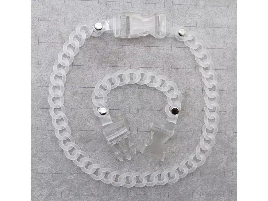 DARK náramek - průhledný řetěz s přezkou / chain with buckle