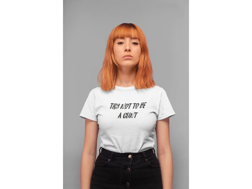 5720 t shirt mockup of a serious faced girl standing in a studio 20844