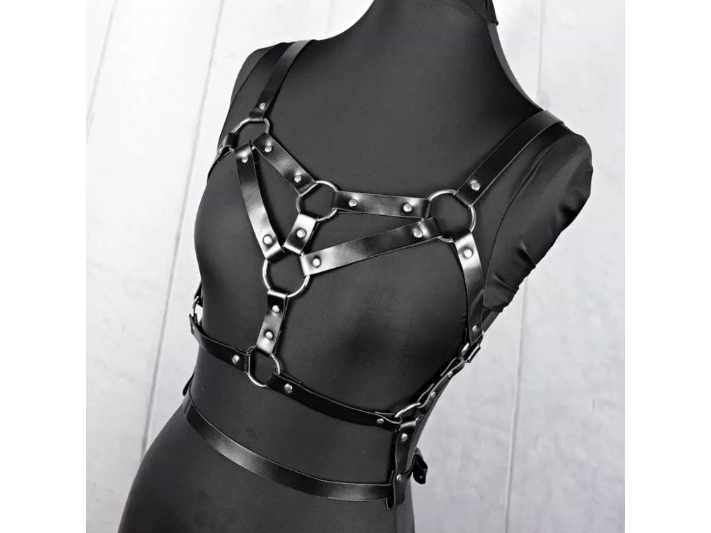 Bodypiece harness pásek černý koženkový MULTI