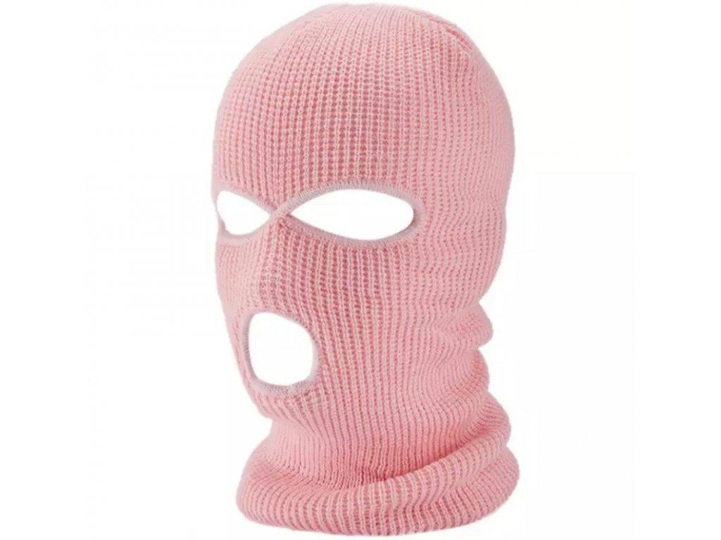 Kukla pletená růžová / BALACLAVA PINK