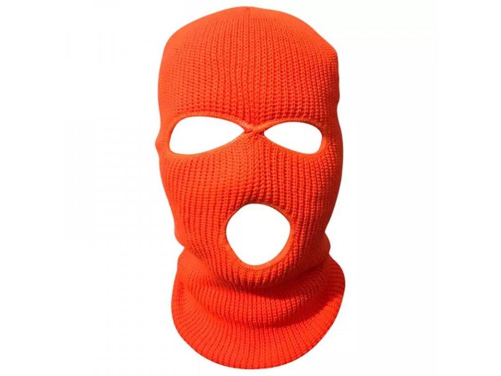 Kukla pletená neon oranžová / BALACLAVA ORANGE