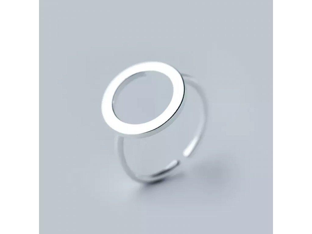 SMILEY stříbrný prsten CIRCLE