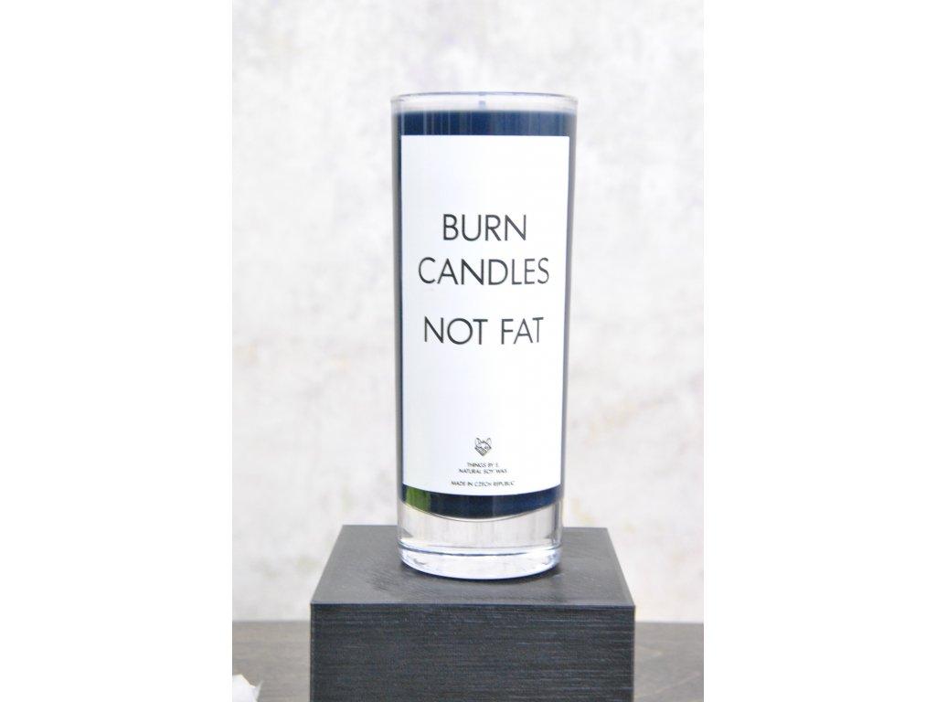 Things by E. - IRONIC CANDLES - svíčka - BURN CANDLES NOT FAT / lesní ovoce