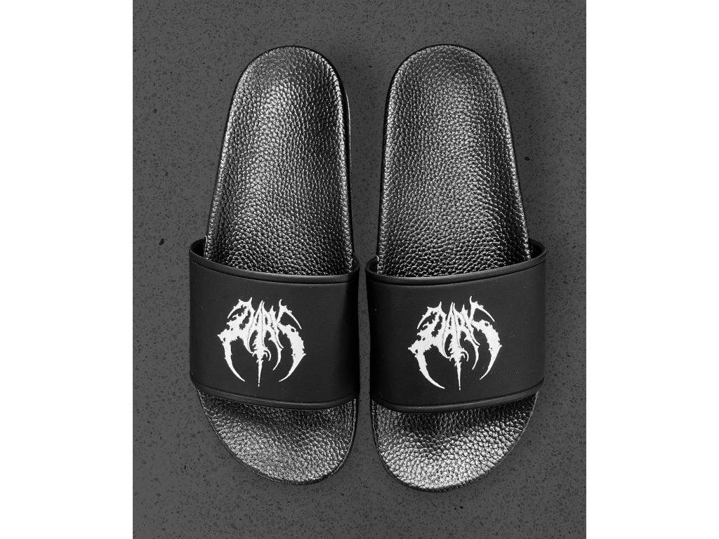 DARK / BLADEXLINES / NTRXZ Colab Collection - unisex černé pantofle