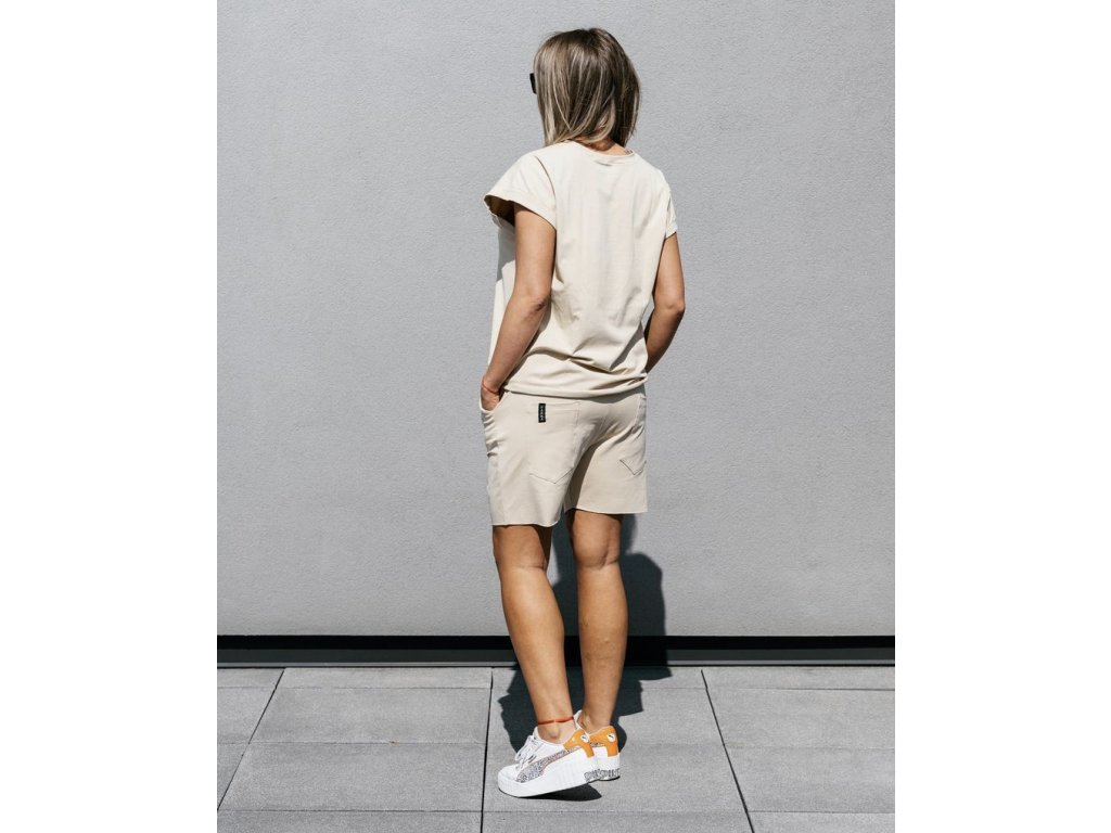 PARMA basic set beige - šortky +  tričko