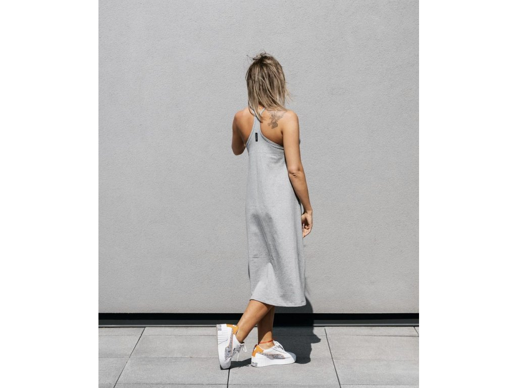 PARMA basic šedé tílkové šaty do áčka