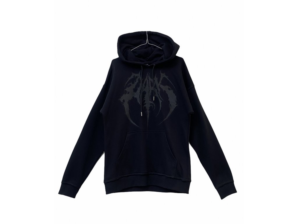 DARK / BLADEXLINES / NTRXZ Colab Collection - unisex černá hoodie mikina all black