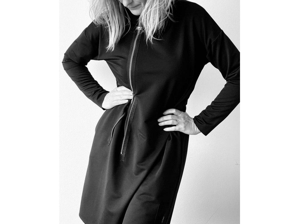 KRAPA dámská černé šaty se zipem