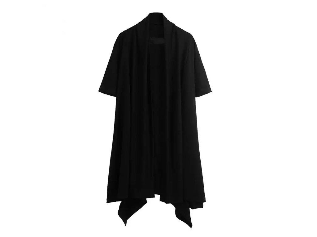 Dlouhá vesta / tričko černá Back Label
