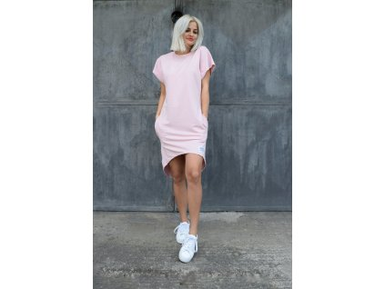 M.ASCH Be Original tričkošaty s krátkým rukávem světle růžové