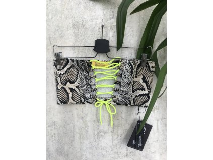 PRINCESS TIRAMISU hadí body s neon žlutým zavazováním
