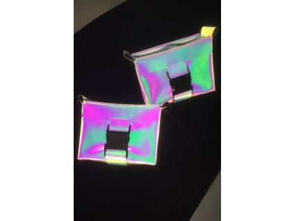tny.3 kabelka / ledvinka Waistbag Small - duhová reflexní