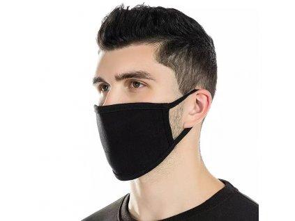 maska / rouška černá látková