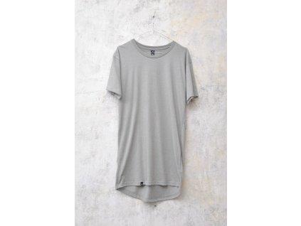 NTRXZ MVMNT pánské tričko béžové khaki - prodloužený střih / bez potisku