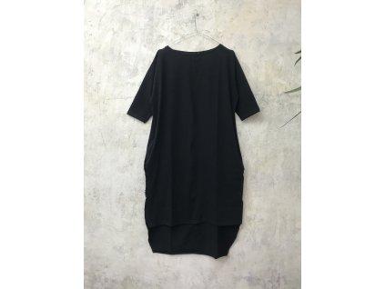 BIOGA dámské šaty COCINA černé 3/4 rukáv