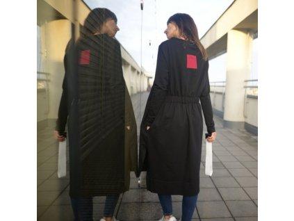 BIOGA dámské černé šaty PROXIMA - dlouhý rukáv