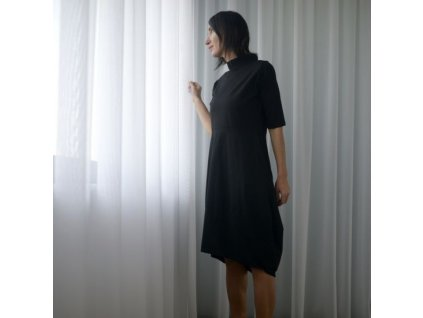 BIOGA šaty černé se stojáčkem PELOTA BLACK