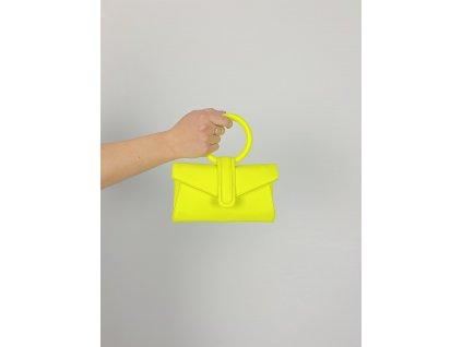 Neon kabelka / ledvinka žlutá